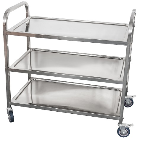 3 tiers stainless steel trolley